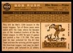 1960 Topps #404  Bob Rush  Back Thumbnail