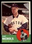 1963 Topps #307  Chet Nichols  Front Thumbnail