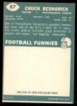 1960 Topps #87  Chuck Bednarik  Back Thumbnail