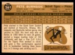 1960 Topps #261  Pete Burnside  Back Thumbnail