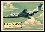 1957 Topps Planes #90 RED  F-101A Voodoo Front Thumbnail