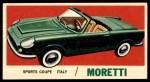 1961 Topps Sports Cars #15   Moretti Front Thumbnail