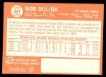 1964 Topps #441  Bob Duliba  Back Thumbnail