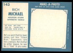1961 Topps #143  Rich Michael  Back Thumbnail