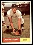 1961 Topps #208 COM Larry Osborne  Front Thumbnail