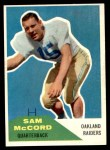 1960 Fleer #67  Sam McCord  Front Thumbnail