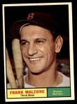 1961 Topps #445  Frank Malzone  Front Thumbnail