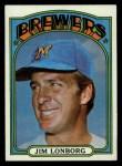 1972 Topps #255  Jim Lonborg  Front Thumbnail