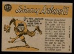 1960 Topps #572   -  Johnny Antonelli All-Star Back Thumbnail