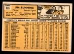 1963 Topps #365  Jim Bunning  Back Thumbnail