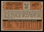 1972 Topps #267  Dave Concepcion  Back Thumbnail