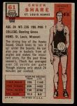 1957 Topps #61  Chuck Share  Back Thumbnail