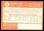 1964 Topps #387  Terry Fox  Back Thumbnail