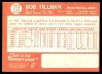 1964 Topps #112  Bob Tillman  Back Thumbnail
