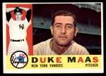 1960 Topps #421  Duke Maas  Front Thumbnail
