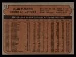 1972 Topps #18 *ERR* Juan Pizarro  Back Thumbnail