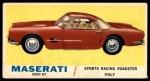 1961 Topps Sports Cars #7   Maserati 5000 GT Front Thumbnail