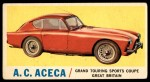 1961 Topps Sports Cars #4   A.C. Aceca Front Thumbnail