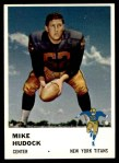 1961 Fleer #217  Mike Hudock  Front Thumbnail