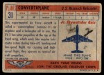 1957 Topps Planes #31 RED  Convertiplane Back Thumbnail
