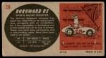 1961 Topps Sports Cars #28   Borgward RS Back Thumbnail