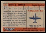 1957 Topps Planes #77 RED  Dhc-3 Otter Back Thumbnail