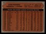 1972 Topps #18 ^COR^ Juan Pizarro  Back Thumbnail