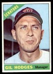1966 Topps #386  Gil Hodges  Front Thumbnail
