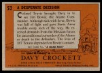 1956 Topps Davy Crockett #52 ORG  Desperate Decision  Back Thumbnail