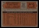 1972 Topps #336  Marty Martinez  Back Thumbnail