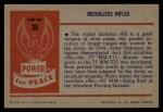 1954 Bowman Power for Peace #36   Recoilless Rifles Back Thumbnail