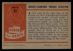 1954 Bowman Power for Peace #57   Rocket-Launcher Proved Effective Back Thumbnail
