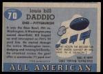 1955 Topps #70  Bill Daddio  Back Thumbnail