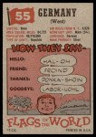 1956 Topps Flags of the World #55   Germany (West) Back Thumbnail