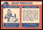 1968 Topps #32  Dean Prentice  Back Thumbnail