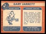 1968 Topps #87  Gary Jarrett  Back Thumbnail
