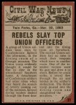 1962 Topps Civil War News #37   Death Barges In Back Thumbnail