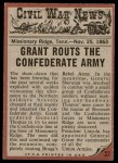 1962 Topps Civil War News #57   Hand to Hand Combat Back Thumbnail