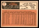 1966 Topps #60  Curt Flood  Back Thumbnail