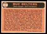 1966 Topps #99   -  Willie Stargell / Donn Clendenon Buc Belters Back Thumbnail
