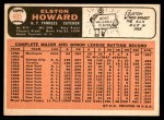 1966 Topps #405  Elston Howard  Back Thumbnail