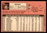 1969 Topps #290  Jim Kaat  Back Thumbnail