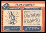 1968 Topps #130  Floyd Smith  Back Thumbnail