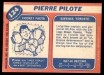 1968 Topps #124  Pierre Pilote  Back Thumbnail