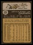 1973 Topps #228  Bobby Darwin  Back Thumbnail