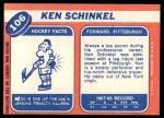 1968 Topps #106  Ken Schinkel  Back Thumbnail