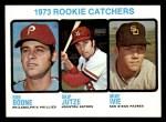1973 Topps #613   -  Bob Boone / Mike Ivie / Skip Jutze Rookie Catchers Front Thumbnail