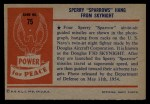 1954 Bowman Power for Peace #75   Sperry Sparrows Hang From Skynight Back Thumbnail
