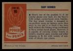 1954 Bowman Power for Peace #95   Baby Bomber Back Thumbnail