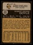 1973 Topps #424  Denny Doyle  Back Thumbnail